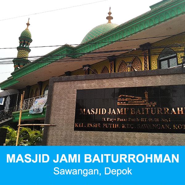 masjid baiturrahman sawangan