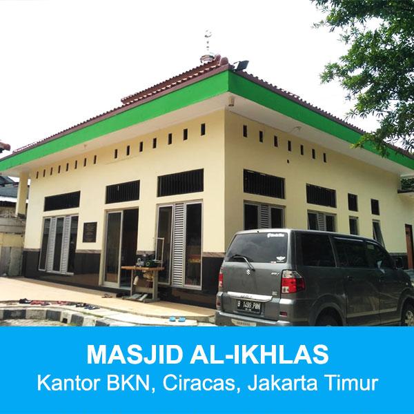 masjid al-ikhlas kantor bkn ciracas